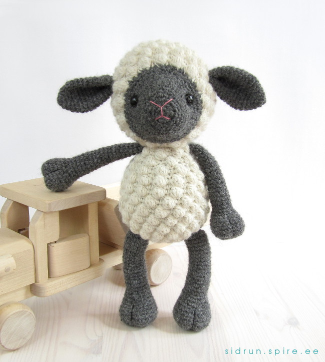 Crocheted farm animals