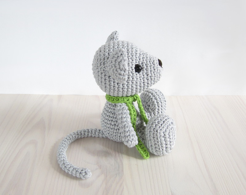 crocheted mouse