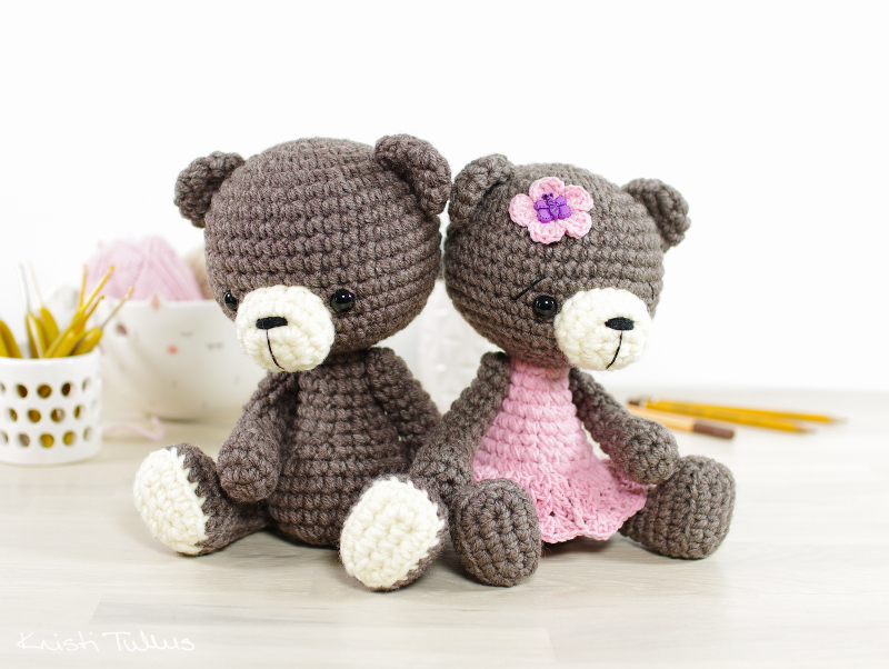 Amigurumi tutorial: Using different yarns to size amigurumi up or down // Kristi Tullus (spire.ee)