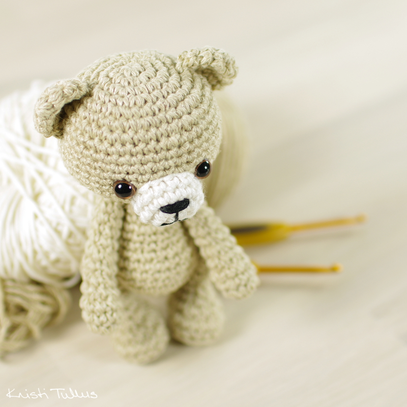 small crocheted teddy bear